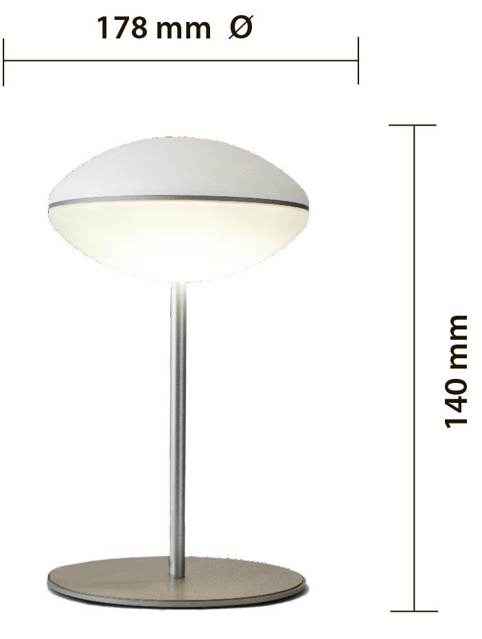 hula led table lamp, lampada da appoggio